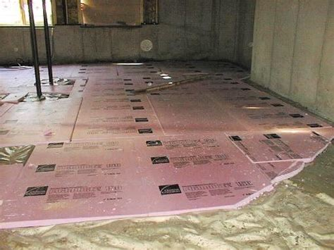 Preparing insulating basement floor   Laundry room