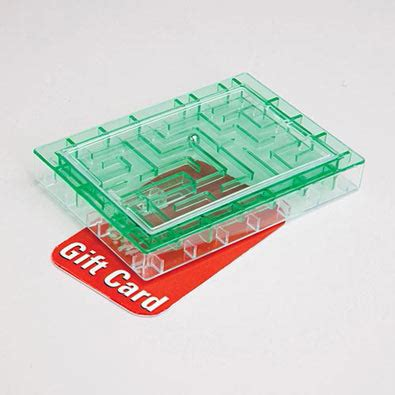 Maze Gift Card - banks money holders gift card maze green
