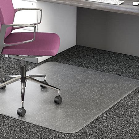 office chair mat realspace all pile studded chair mat 36 x 48 rectangular clear by office depot officemax