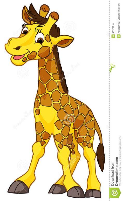 imagenes de jirafas bebes en caricatura animal de la historieta jirafa caricatura stock de