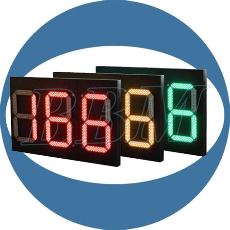 digital parking lot light timer 1000mm two and half digits and tri color led countdown