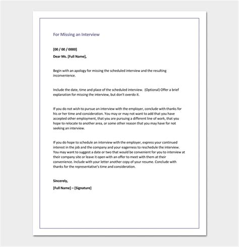 Apology Letter To For Missing Test Apology Letter Template 33 Sles Exles Formats