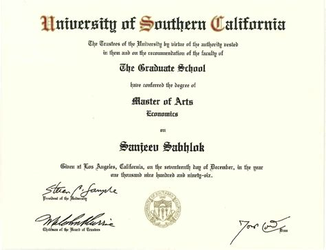 Usc Marshall Mba Requirements by Diploma July 2015