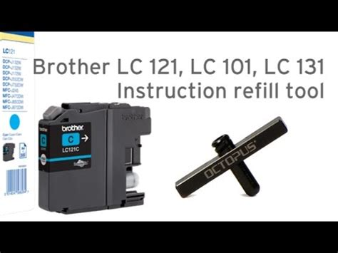 chip resetter brother lc 121 ink refill kit for brother lc203 lc205 lc207 lc209 c