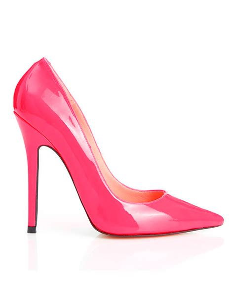 pink patent high heels shoes paris patent hot pink pointed toe high heel pump