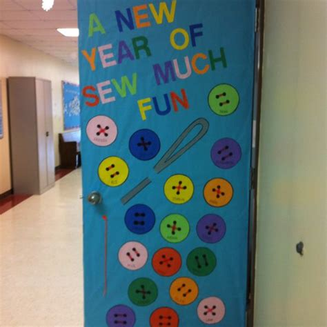 new year class decorations a new year is sew much library bulletin boards