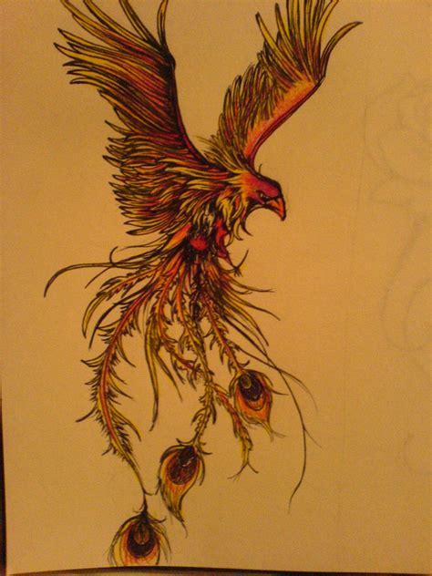 phoenix tattoo art phoenix by mustang inky on deviantart