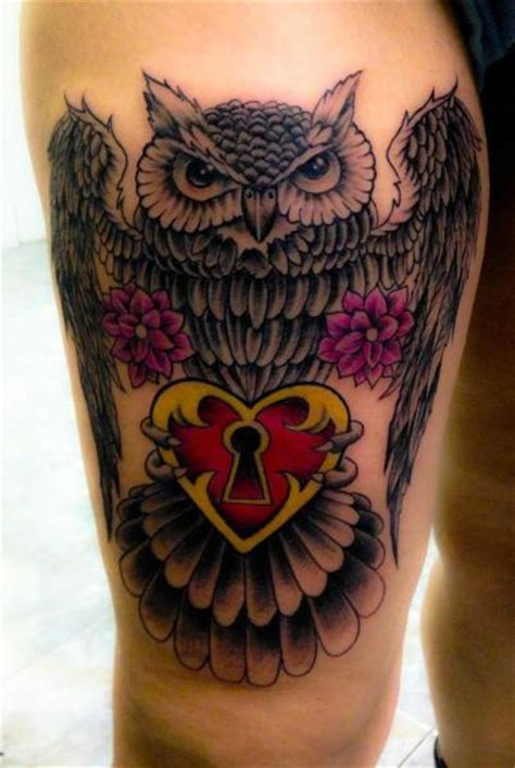 tattoo old school hibou signification tatouage old school cœur hibou par nirvana tattoo