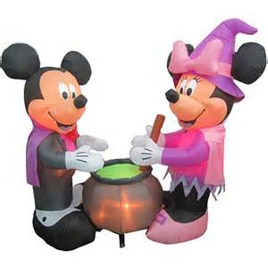 Airblown inflatables disney vampire mickey mouse and witch minnie