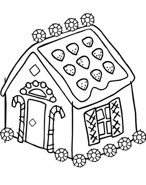 Gingerbread House Coloring Pages For Kids Az Coloring Pages Gingerbread House Colouring Pages