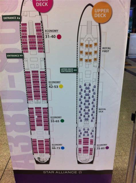 thai air a380 seat map qatar airways a380 seat map