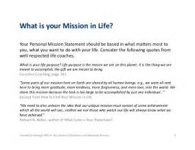 personal mission statement template personal mission statement exles alisen berde
