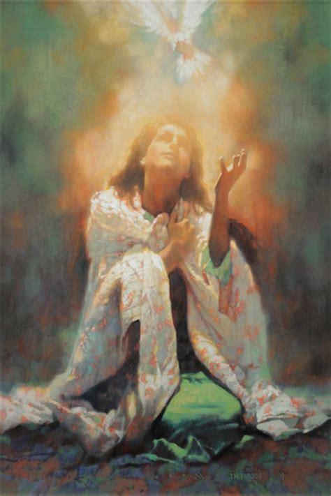 holy spirit the comforter michael dudash artist hand signed open edition canvas