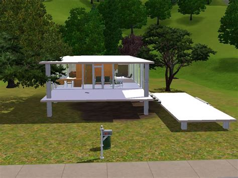 Floor Plan Free Download Mod The Sims Farnsworth House