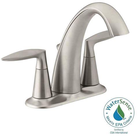 Kohler Bathroom Shower Faucets Kohler Rubicon 4 In Centerset 2 Handle Bathroom Faucet In Vibrant Brushed Nickel K R76215 4d Bn