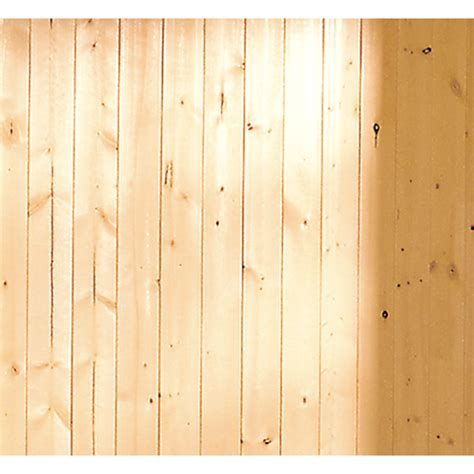 pine beadboard planks shop evertrue 3 5625 in x 8 ft v groove gold pine wall