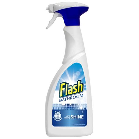 Cleaner For Bathroom by Flash Bathroom Spray 500ml Cleaning Products Household Essentials Non Food Iceland