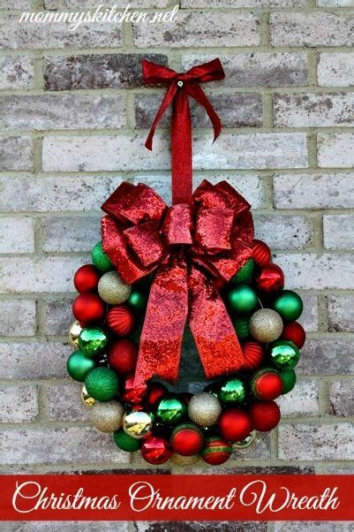 wreaths decorated with ornaments mouthtoears s kitchen diy ornament wreath