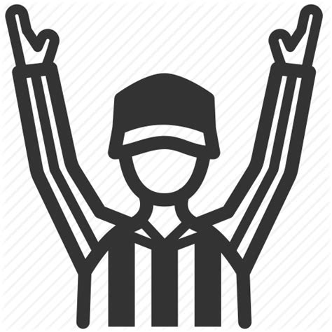logo black and white referee american football official referee sign touchdown umpire icon icon search engine