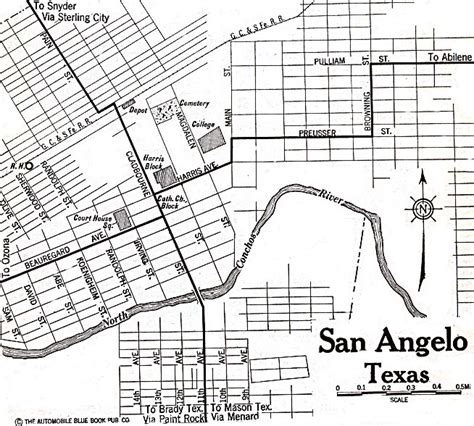 map san angelo texas 1up travel historical maps of u s cities san angelo texas 1920 automobile blue book 156k