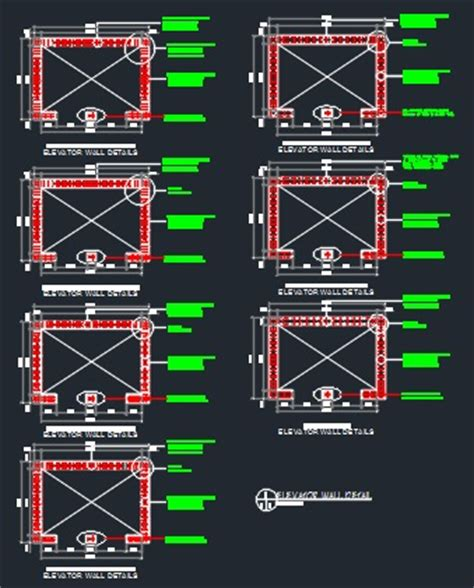 Multi Family Floor Plans elevator structural details cad files dwg files plans