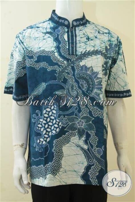 Koko Qurta Trend Masa Kini jual kemeja koko batik istimewa baju batik tulis lengan pendek kerah shanghai desain bagus