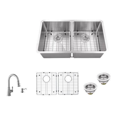 The Kitchen Sink Company Ipt Sink Company Undermount 32 In 16 Stainless Steel Bowl Kitchen Sink In Brushed