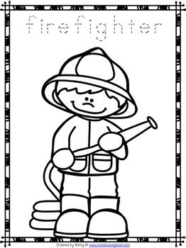 community helpers coloring pages free community helpers tracing and coloring pages by the
