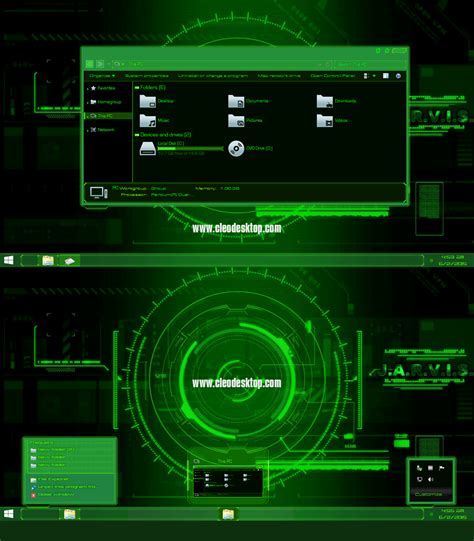 themes for windows 10 jarvis jarvis light green theme for windows 8 1 windows10