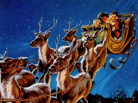 santa and reindeer new calendar template site