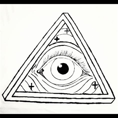 illuminati triangle eye illuminati triangle pencil and in color