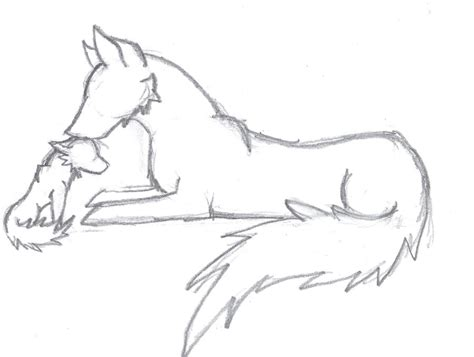 Simple Wolfis M wolf and pup by xxdreamwalkerxx on deviantart