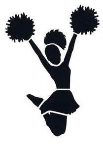 items similar to cheerleader stencil on etsy