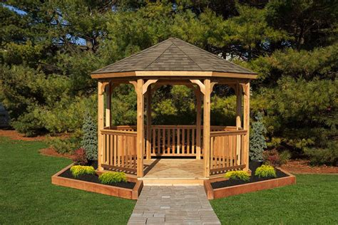 wood gazebo kits wooden octagon gazebo kit amish made by yardcraft