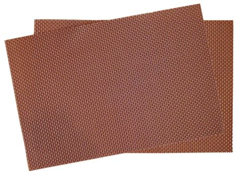 Woven Place Mats by Crossweave Woven Vinyl Placemat Set Of 4 Chocolate Brown