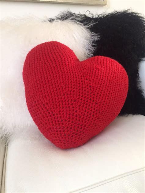 cuscino cuore uncinetto cuscino cuore amigurumi grande per la casa e per te