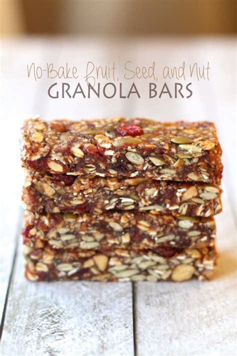 Healthy Seed Bar fruit and seed granola bars running with spoons