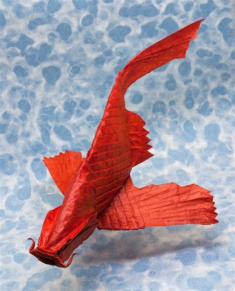 Origami Flying Dinosaur - this week in origami autumn dinosaur edition