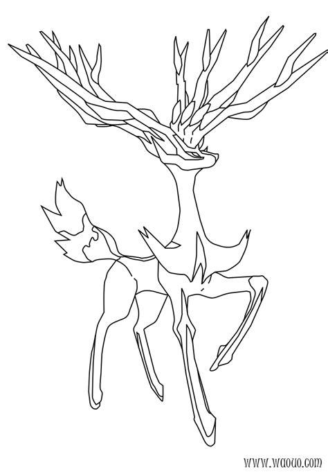pokemon coloring pages deer coloriage xerneas pokemon 224 imprimer