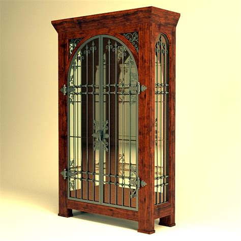 3d rustic cabinet