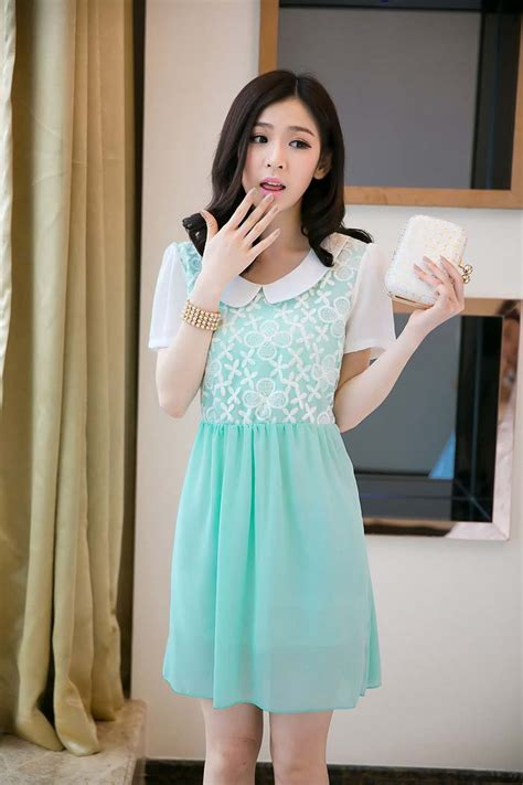 Sifon Dress by Mini Dress Korea Sifon Bunga Model Terbaru Jual Murah