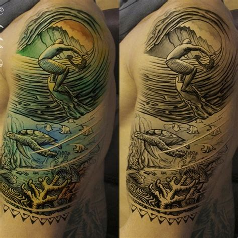 40 cool surf tattoo designs and ideas for you i luve sports