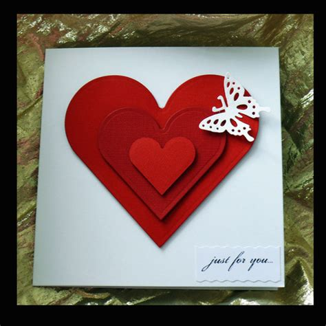 Valentines Day Handmade Card - luxury handmade valentines day cards