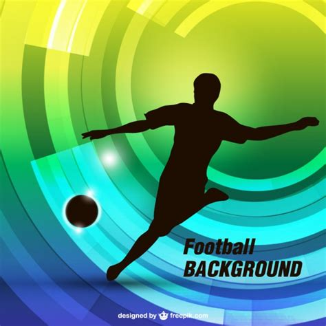 soccer player background vector free download