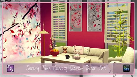 sims 4 cc home decor cc by shenice93 spring time cherry cc by shenice93 spring time cherry blossom decor set