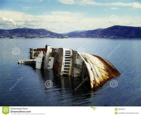 boat crash green bay mediterranean sky shipwreck stock image image of