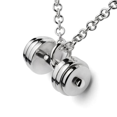 charms and pendants for jewelry dumbbell necklace barbell weight pendant silver 925 charm