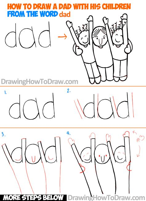 how to draw doodle words how to draw a and children from the word