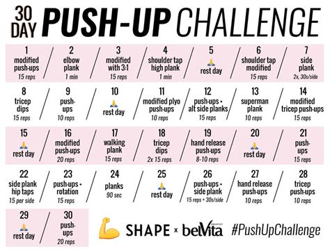 30 day push up and sit up challenge the 30 day push up challenge for seriously sculpted arms