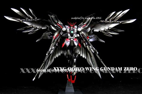 Gundam Wings Black Silver gundam xxxg 00w0 wing gundam zero black shadow custom painted build